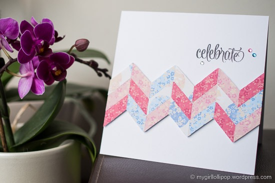 Chevron Celebrate card