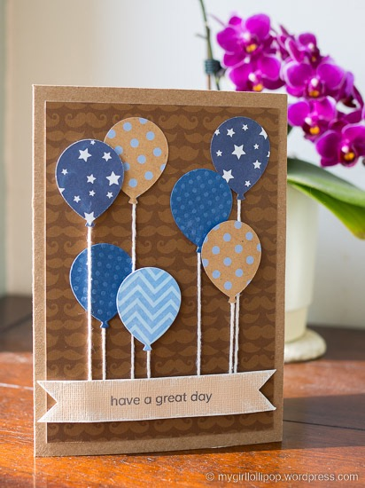 Masculine Birthday Balloons card