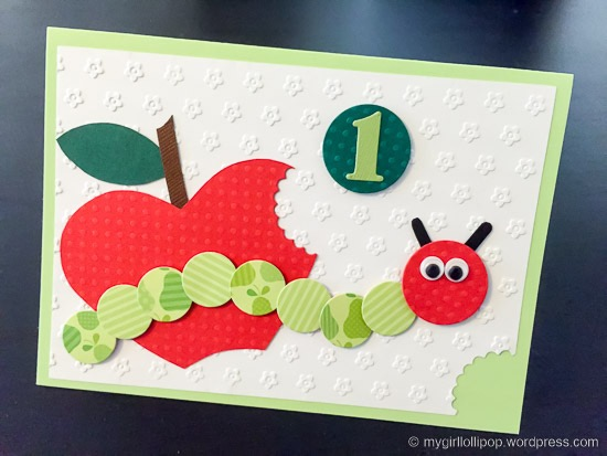 Hungry Caterpillar birthday card