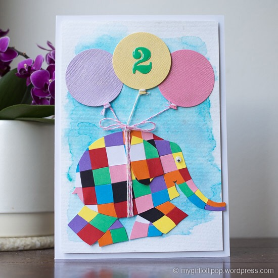 Elmer birthday card