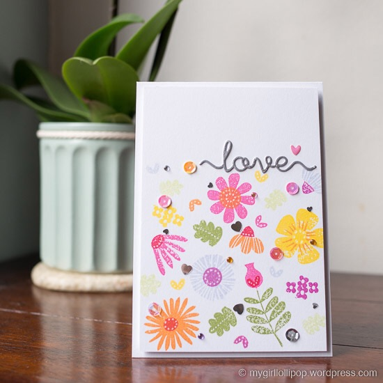 Love Fall Florals card