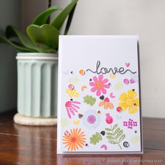 Love Fall Florals card