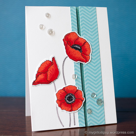 mftstamps delicate poppies