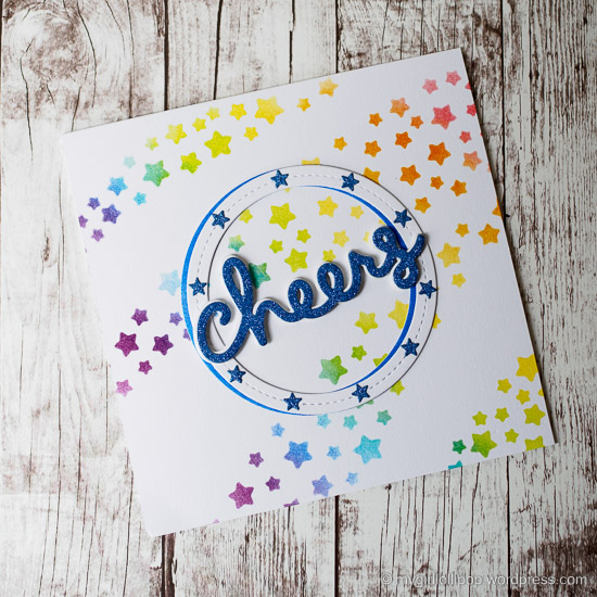 Cheers card #lawnfawn #createasmilestamps