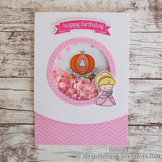 Cinderella Birthday Card Mygirllollipop