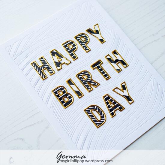 Big, Bold, And Gold Happy Birthday