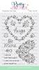 Lg. Floral Hearts stamp set