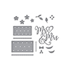 Mr & Mrs Wedding Cake Etched Dies