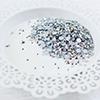 Metallic silver jewels