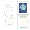 Celestial Star Background Glimmer Plate