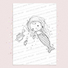 Mermaid digi stamp