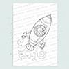 Space Rocket digi stamp