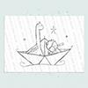 Paper Boat Boy digi stamp