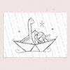 Paper Boat Girl digi stamp