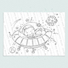 Spaceship digi stamp