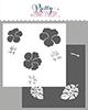 Hibiscus Flowers stencils (2 layer)