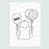 Cute Ghost digi stamp