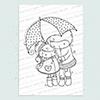 Rainy Day Friends digi stamp